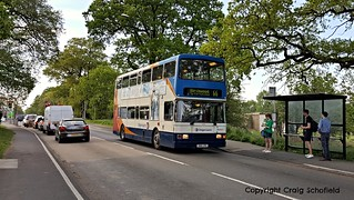 Stagecoach East Midlands Volvo Olympian R166VPU (16066) on Skellingthorpe Road, Lincoln, 09/05/2016