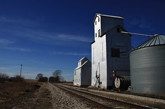 Supersweet on the Rock - Downey, Iowa (Lights in my hometown) Tags: old railroad rock island farm country elevator grain tracks iowa agriculture feeds downey cedarcounty iowainterstate supersweet agritecture