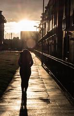 DSCF4238 (B Hutchison) Tags: sunset shadow walking edinburgh pavement leith theshore xt1 xf60mm