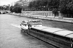 TITANIC ? (saturedcamtar) Tags: bw paris france seine analog river french boat lomography olympus om10 titanic fleuve peniche saturedcamtar