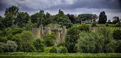 Bodium Castle (Captain Dibbles Pace Stick) Tags: old sky panorama castle history landscape kent stormy tourist hdr bodium tonemapped