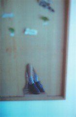 (merra marie) Tags: plants film socks 35mm mirror plantas legs pastel zapatos espejo planets medias piernas planetas