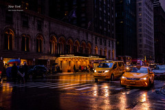 The Park Central Hotel (beluga 7) Tags: ny newyork rain yellow canon cab taxi pluie canon6d theparkcentralhotel