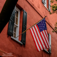 Historical US Flag (Tony Phillips Photography) Tags: travel usa history architecture flag southcarolina charleston ushistory