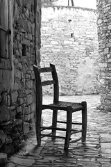 Chair in an alley (msiapan) Tags: old monochrome chair alley village traditional cyprus lefkara