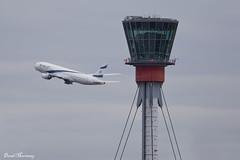 Heathrow ATC Tower (birrlad) Tags: uk london tower atc airplane telaviv airport heathrow aircraft aviation airplanes international airline boeing airways airlines 777 airliner lhr elal b777 777200er b772 777258er 4xecc
