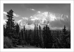 Rundle A La Ansel (clark_monson) Tags: sunrise alberta snowfall mountrundle banffnationalpark canadianrockies