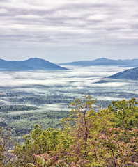 Blue Ridge Mountains Landscape (f0rbe5) Tags: blue trees panorama usa cloud white mountains green fog rural buildings landscape virginia countryside highway scenery view cows scenic scene hills va fields farms interstate forests blueridgemountains 2012 i64 aftonmountain farmsteads canonefs1755mmf28isusm canoneos450d dotmemorial
