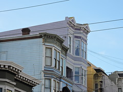 Purple in San Francisco (8:40am) Tags: sanfrancisco purple victorianhouse