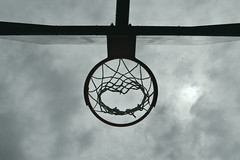 net (Despina Delivasili) Tags: sky sun white black net clouds basket no
