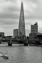 The Shard (johnaalex) Tags: nikkorafs2470f28ged d810 theshard millenniumbridge london england uk bw