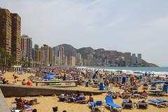 Playa Levante, Benidorm, April 10th 2015 (Suburban_Jogger) Tags: vacation holiday beach canon coast spring spain sand relaxing april 1855 mediterraneansea benidorm costablanca sunsine 2015 playalevante 60d