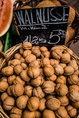 Walnuts (elzauer) Tags: wien leica food retail closeup outdoors photography austria day market backgrounds fullframe abundance foodanddrink freshness naschmarkt healthyeating viennaaustria colorimage at focusonforeground leicaq nutfood naschmarktvienna