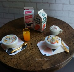 Breakfast of champions (Kitty and Kat Miniatures) Tags: mini miniature miniatures dollhouse dollshouse dollhousefurniture dollhouseaccessories onetwelthscale oneinchscale kawaii breakfast