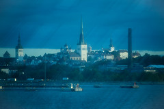Tallinn from the Baltic Sea (Maxpack81) Tags: old city sea 3 water skyline canon photography eos wasser tallinn estonia fotografie photographie harbour churches kirchen baltic m altstadt estland fotographie photografie