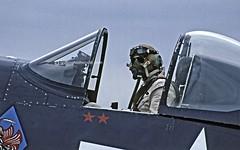 Corsair Pilot (Griffon Stephenson) Tags: fighter aircraft duxford corsair pilot airshows worldwar2 imperialwarmuseum chancevought flyinglegends