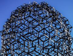 Entrepreneur Sculpture (Jori Samonen) Tags: blue sky sculpture art finland helsinki eva kamppi 2006 swedish sculptor entrepreneur narinkkatori lfdahl