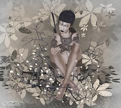 ca|178 ( ) Tags: woman tattoo hair avatar makeup sl secondlife virtual pixel shi maitreya whitewidow catwa zisbka shihair