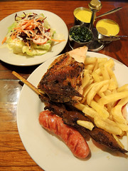 Grilled combo (MelindaChan ^..^) Tags: food peru restaurant lima mel eat meal grilled peruvian combo  chanmelmel  melindachan meatmelinda