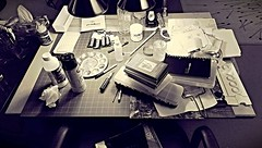 My Drawing Board, right now! - December 1, 2014 (steveartist) Tags: art studio artists 2014 artstudios drawingboards stevefrenkel artistsmaterials studiosupplies artistsworkplaces aviaryapp htconeultrapixelcamera