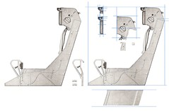 Grumman F11F-1 Tiger Ejection Seat Parts (wbaiv) Tags: face handle view head drawing parts seat tiger side curtain profile guard belts rollers knee ejection shoulder cushion grumman f11f1