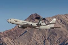 Sentry Duty (damneardone) Tags: airplane nikon lasvegas aviation jet sigma boeing usaf sentry awacs nellis 148 greenflag e3b nikonsigma d7100 960thaacs 960aacs 761607