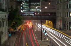 IMGP9439 (mattbuck4950) Tags: england london cars buses night europe december unitedkingdom bridges a3 lighttrails kingwilliamstreet cityoflondon 2014 lowerthamesstreet fishstreethill lenssigma18250mm camerapentaxk50