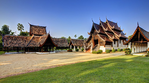 Classical Lanna Style Temple Compound / Chiang Mai / Thailand