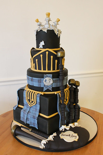 Scottish Bag Pipe Cake
