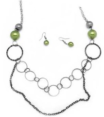 Glimpse of Malibu Green Necklace P2810-3