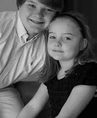 My son and Niece (guido1515) Tags: family boy portrait white black girl smile kids lens couple minolta sony 14 alabama son indoor cousin amateur 58mm badcrop a57 rokkor legacylens