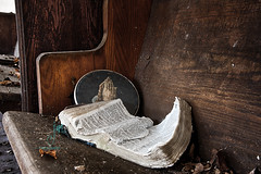 Forgive Me Father, For I Have Sinned (Dr_Fu_Manchu) Tags: old urban abandoned church rural hands nikon decay kentucky exploring prayer jesus explore d750 bible louisville nikkor pew derelict decaying dilapidated 750 24120mm