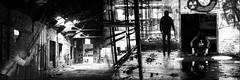 Benedictine (austin-bland) Tags: shadow man art collage graffiti darkness abandon fate layering