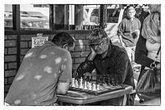 Concentration (efstop1) Tags: bw nikon chess streetphotography neighborhood richmondva nikon1755mmf28