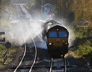 66134 T&T 66140 at Metheringham on 01 Nov 14.