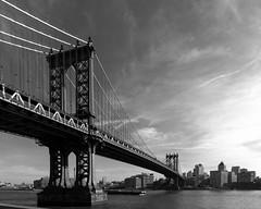 Manhattan Bridge (uncledougie) Tags: newyorkcity bridge blackandwhite bw architecture manhattan