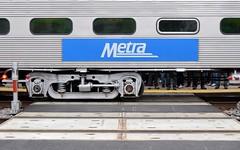 All Aboard!! (Theresa*) Tags: metra commuter train passengers feet yellowline yellow tracks crosswalk pedestrians nikond7000 riverside illinois bnsf railroad racetrack