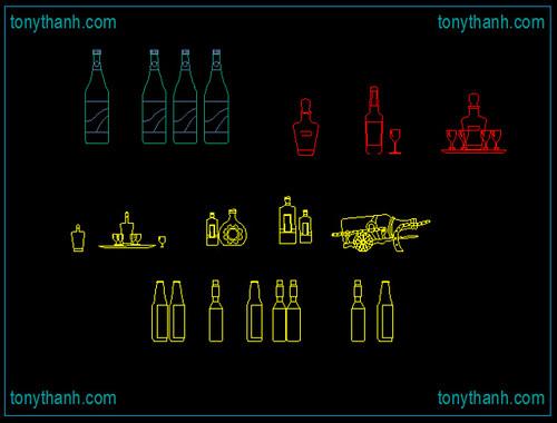 Bottle cad block