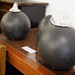 Black cylindrical candles/lanterns