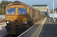 66720 & 66746 Canterbury West 05-12-14 (panmanstan) Tags: station train kent diesel railway loco canterbury locomotive class66 permanentway gbrf