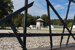 Through The Bars (FotoFazza) Tags: camp tower canon fence concentration holocaust bars remember respect nazis dachau thorny 650d