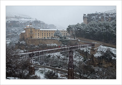 Puente de San Pablo (miguelangelortega) Tags: espaa snow ro river spain nieve convento karst cuenca parador patrimoniodelahumanidad caliza paradoresnacionales ltytr2 ltytr1 letssnow padrespales hozdelhecar