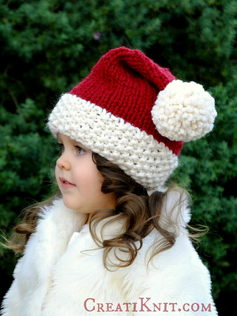 The worlds best photos of creatiknit and hat flickr hive mind free knitting pattern santa hat creatiknit tags santa christmas winter red baby bankloansurffo Choice Image
