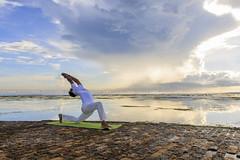 Jitendra Pokhriyal (Pandu Adnyana Photography Tour) Tags: sky bali cloud beach yoga pose westin nusa dua
