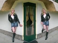 With and without glasses. (sabine57) Tags: drag tv highheels boots cd tights skirt crossdressing tgirl transgender tranny transvestite miniskirt pantyhose crossdresser crossdress leatherjacket travestie transvestism