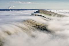(John Ormerod) Tags: uk light england mist weather fog landscape photography photo nikon view image unitedkingdom britain derbyshire peakdistrict hill foggy scenic scene hills photograph land vista inversion greatridge mantor d7000