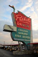 Parkette Drive In (KYcactus) Tags: urban drive neon grafitti decay lexington kentucky diner american americana roadhouse parkette