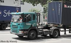 Scania P360 (Waverly Fan) Tags: port truck toll gateway psa scania logistics inter haulage