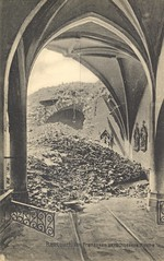 Inside a bombed French Church (Miami U. Libraries - Digital Collections) Tags: digital postcard churches collection worldwari lostarchitecture miamidigitalcollections collectionsbowden franceraucourt bowdenpostcardcollectionmiami
