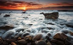 Bold Rocks (artjom83) Tags: ocean longexposure sunset sea seascape water clouds landscape rocks cloudy oz tide australia southern coastal filter nd sa australien grad southaustralia marino 2015 canon6d